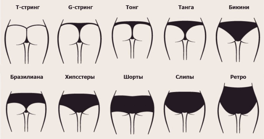 Виды женских трусов  - как выбрать правильный фасон по фигуре