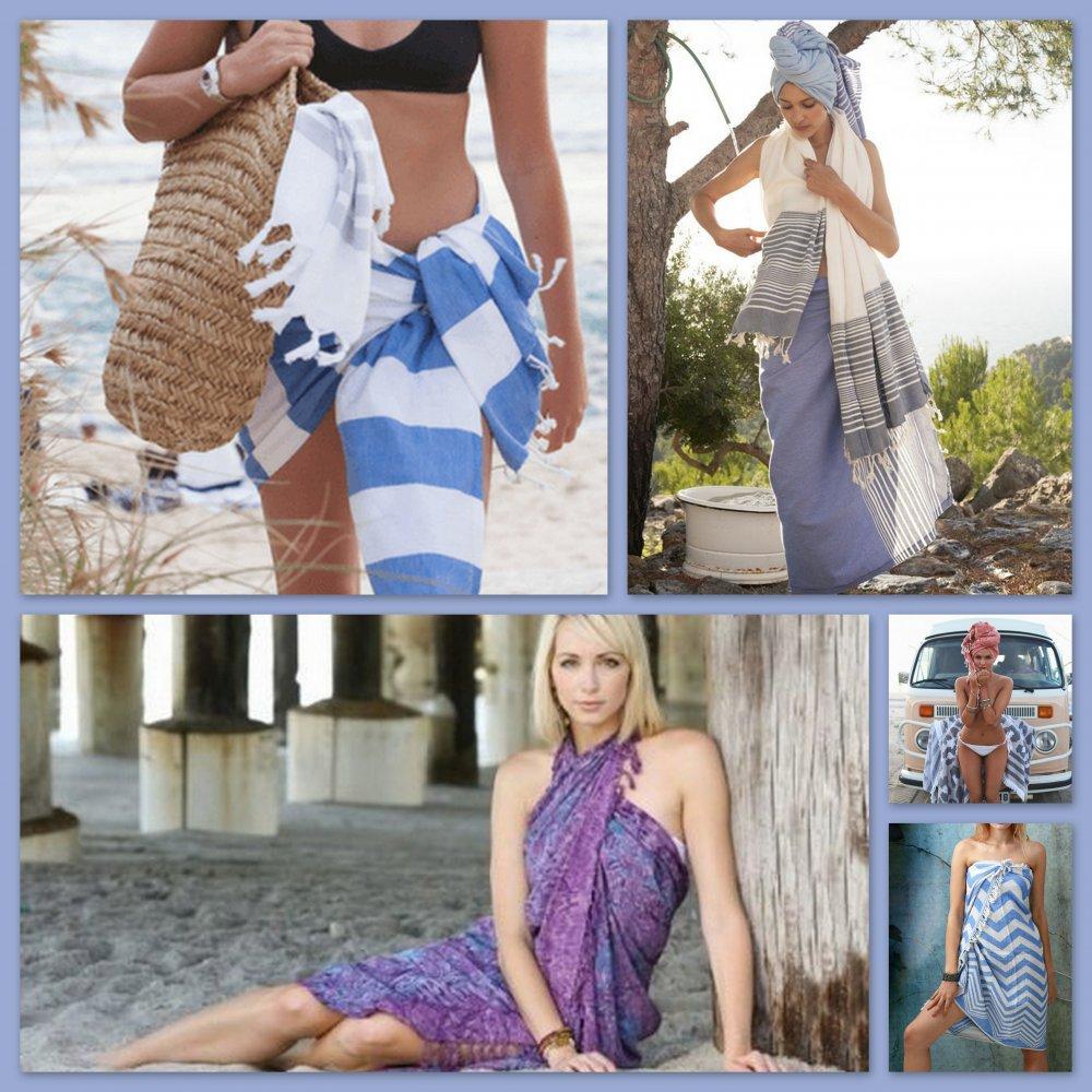 Пештемаль как модная пляжная одежда