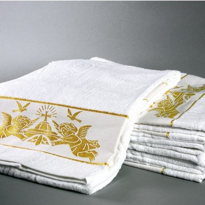 "Крыжма махровая Hanibaba. ""Ангелы Золото"", размер 70х140 см"