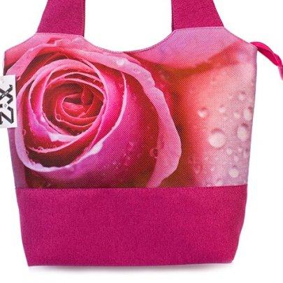 Сумка женская Флер 0326 c розой, размер 30х40х13 см