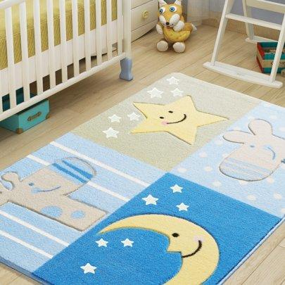 Детский коврик Confetti. Sleepy Blue, размер 100х150 см