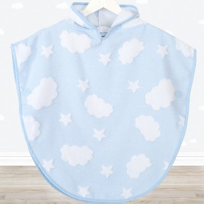 Детское полотенце-пончо Irya. Cloud голубого цвета
