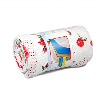 Простынь вафельная Home Line Сердце красного цвета в ассортименте