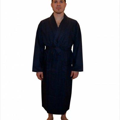 Мужской вафельный халат Nusa, модель 12680 синий