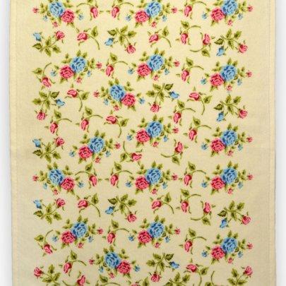 Полотенце велюровое кухонное Akipek. Рожеві квіти