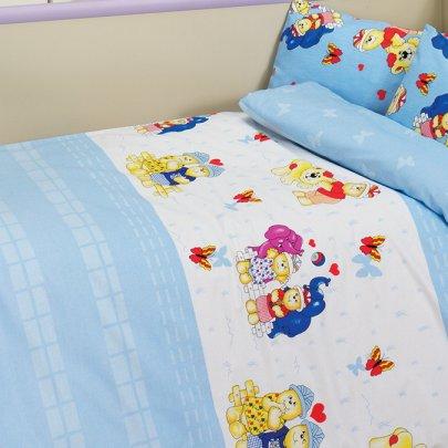 Постельное белье в детскую кроватку Class. Happy v1 Mavi