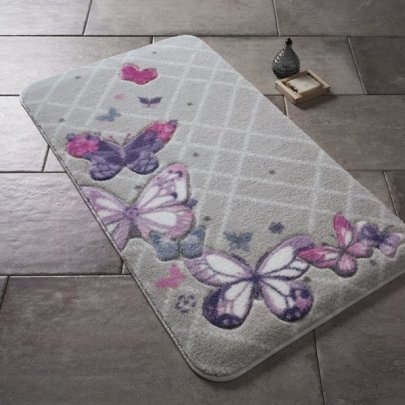 Коврик для ванной Confetti. Butterfly Plaid Purple