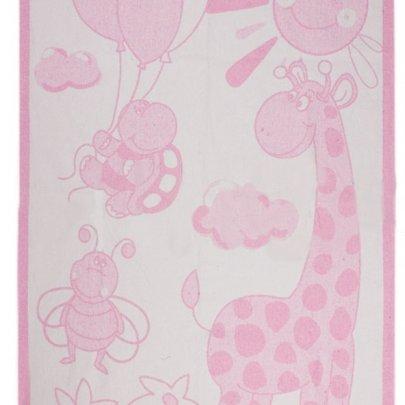 Детское хлопковое одеяло Vladi. Жираф розовое