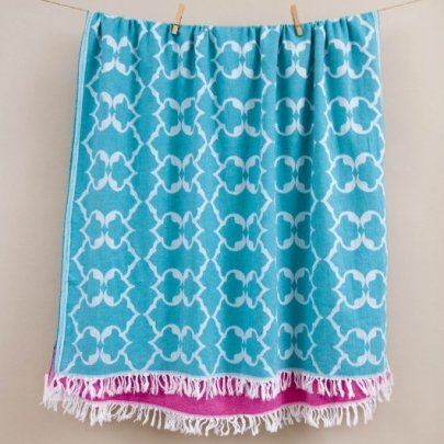 Пляжное полотенце Barine. Pestemal Jasmine Green зеленое