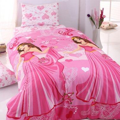 Постельное белье Hobby Ranforce. Princess розового цвета
