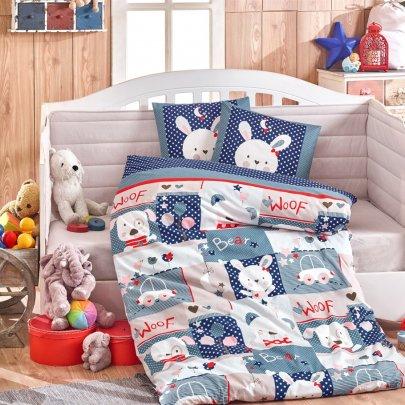 Детское постельное белье HOBBY. Poplin Bebek Baby Snoopy синий