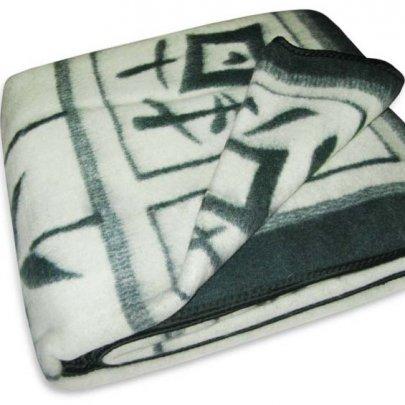 Одеяло Vladi  жаккардовое бамбук, бело-зеленое