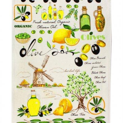 Полотенце кухонное IzziHome. Оливки