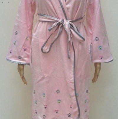 Халат женский махровый Nusa. 3605 персикового цвета