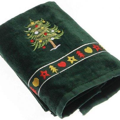 Махровое полотенце Homeline. Christmas Елочка зеленое