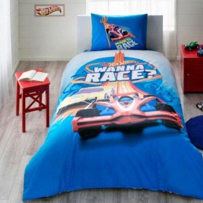 Детское постельное белье TAC. HOT WHEELS RACE