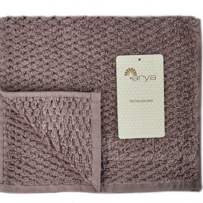 Махровое полотенце Arya. Однотонное Arno, пурпурного цвета