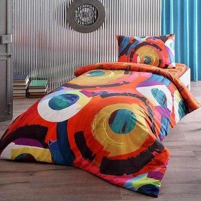 Подростковое постельное белье TAC. Ranforce Graffiti Motion (простынь на резинке)