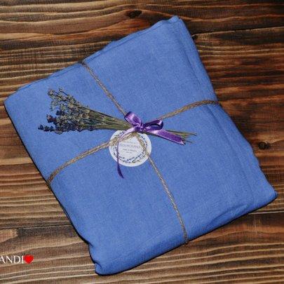 Простынь BEIK-MORANDI. 100% лен Blue