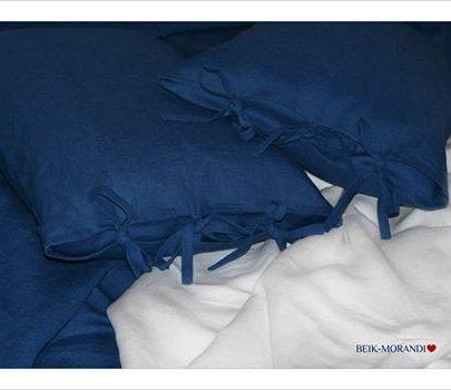 Наволочка BEIK-MORANDI. 100% лен LOFT DARK BLUE