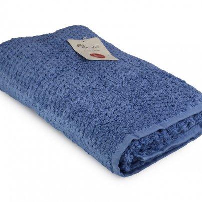 Махровое полотенце Arya. Однотонное Arno, голубого цвета