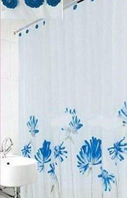 Шторка для ванной Arya. Blue Daisy