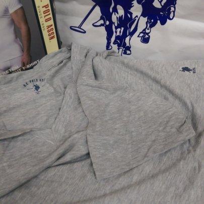 Мужская футболка U.S. Polo Assn. Модель 80086, серого цвета