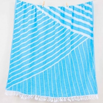 Пляжное полотенце Barine. Pestemal Cross Turquoise бирюзовое