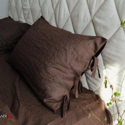Наволочка BEIK-MORANDI. 100% лен Утро в Провансе BROWN