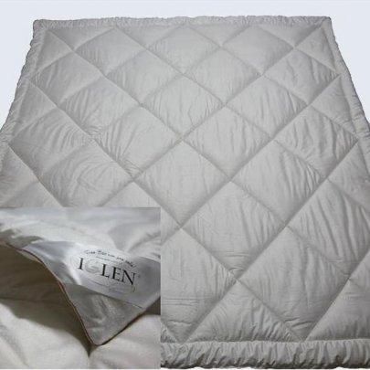 """Одеяло """"Iglen"""" демисезонное шерстяное детское в тике, размер 110х140"""