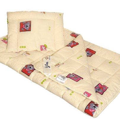 """Комплект Billerbeck """"Малыш"""", одеяло+подушка из шерсти, размер 110х140+40х55"""