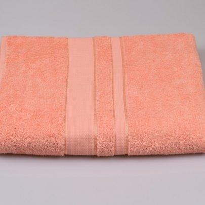Простынь махровая Аиша персиковая