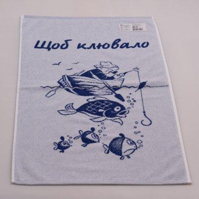 Махровое полотенце Речицкий текстиль. УДАЧНОЙ РЫБАЛКИ