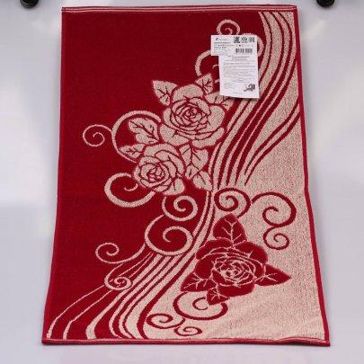 Махровое полотенце Речицкий текстиль. РОЗОЧКА  С  ВЕНЗЕЛЕМ  красный