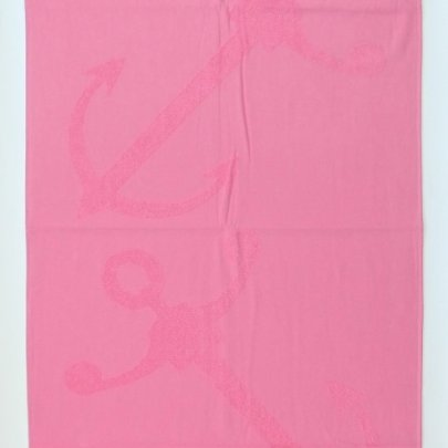 Пляжное полотенце ABC. Pestemal Якорь розовое