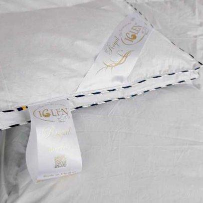 Одеяло детское Iglen Royal series пуховое (серый пух) демисезонное в батистовом тике