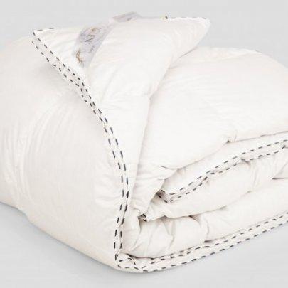 Одеяло Iglen Royal series пуховое (серый пух) зимнее в батистовом тике