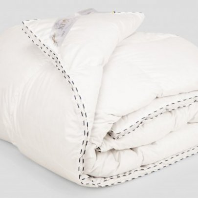 Одеяло Iglen Royal series пуховое (серый пух) демисезонное в батистовом тике в ассортименте