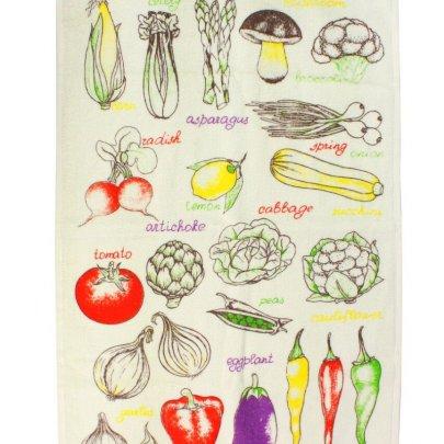 Полотенце кухонное IzziHome. Овощи цветные