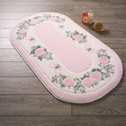 Коврик для ванной Confetti. Rose Frame Pembe