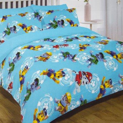 Постельное белье в детскую кроватку  Viluta. 17166 голубого цвета