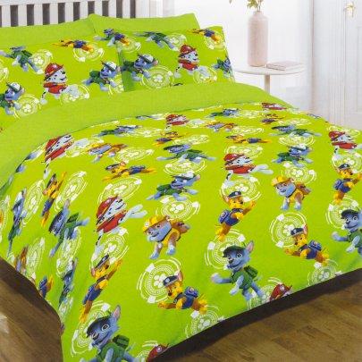 Постельное белье в детскую кроватку  Viluta. 17166 зеленого цвета