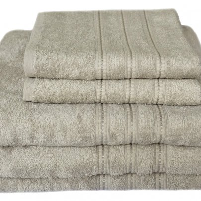 Бамбуковое махровое полотенце Arya. Alice бежево-серый