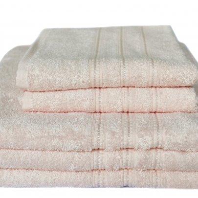 Бамбуковое махровое полотенце Arya. Alice персиковый