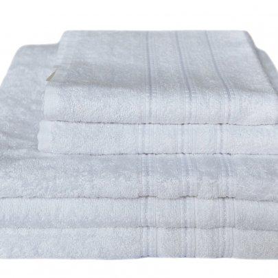 Бамбуковое махровое полотенце Arya. Alice белый