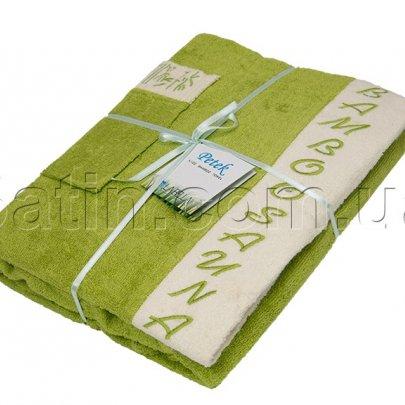 Набор для сауны бамбуковый женский Petek La Bella Bamboo, светло-зеленый, 3 предмета