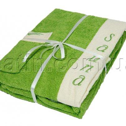 Набор для сауны женский Petek La Bella. Cotton, зеленый, 3 предмета