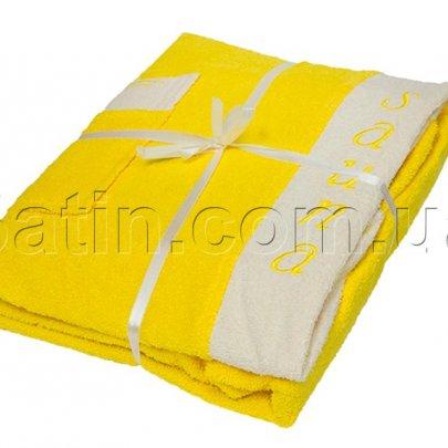 Набор для сауны женский Petek La Bella. Cotton, желтый, 3 предмета