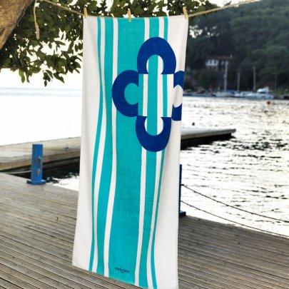Пляжное полотенце Marie claire. Belem mavi, размер 75х150 см