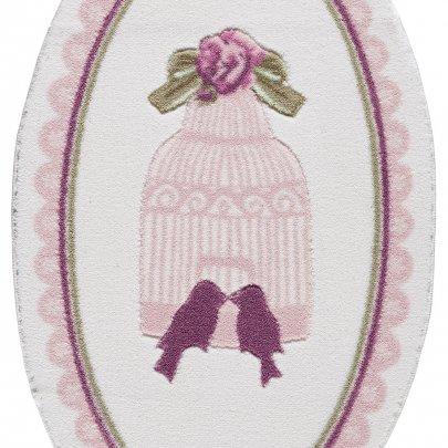 Коврик для ванной Confetti Bella. Bird Cage Pink